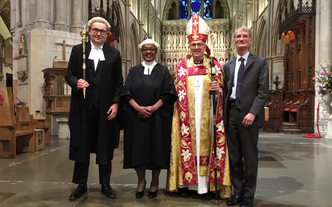 Araba Taylor sworn in as the Diocese of Southwark's Deputy Chancellor (Deputy Judge)